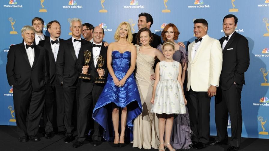 """Екипът на """"Момчетата от Медисън авеню"""" с трета поредна награда за най-добра драма"""