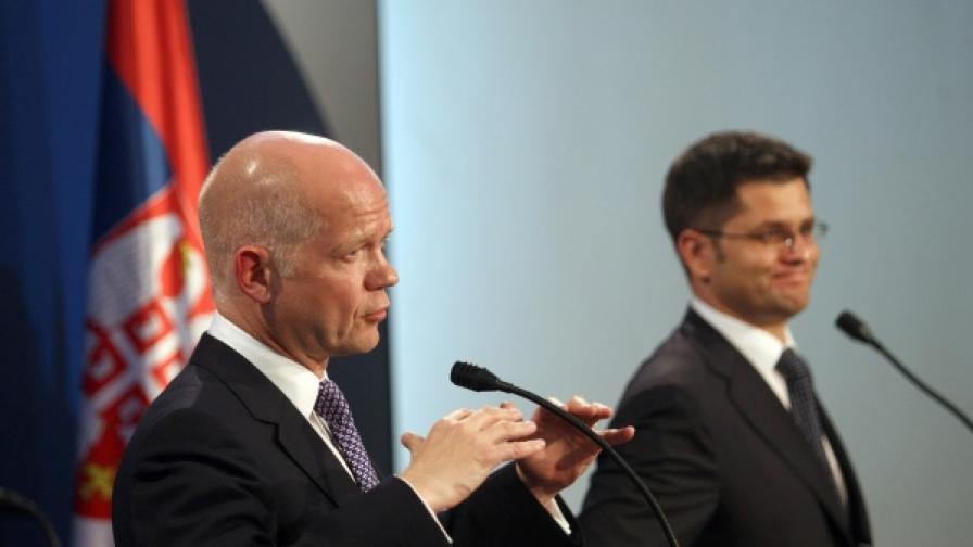У. Хейг: Сърбия да не заседне в европейската си интеграция
