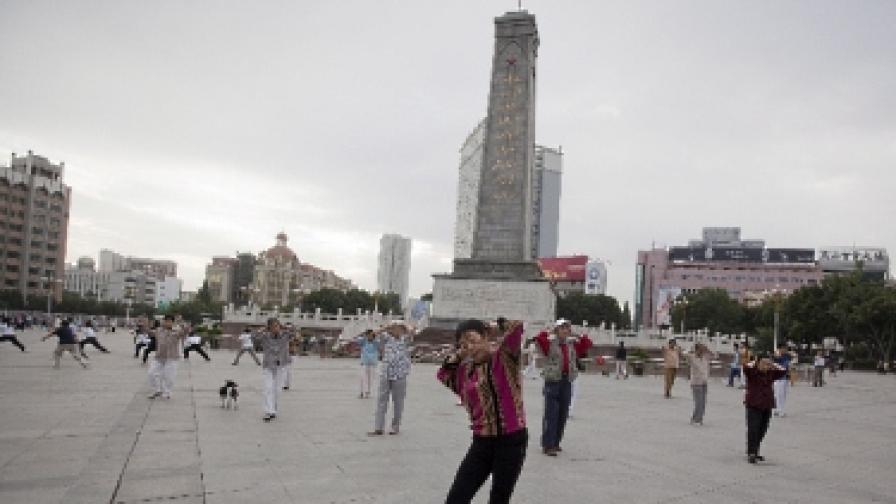 """""""Раз, два!"""" - отново масови физзарядки в Пекин"""