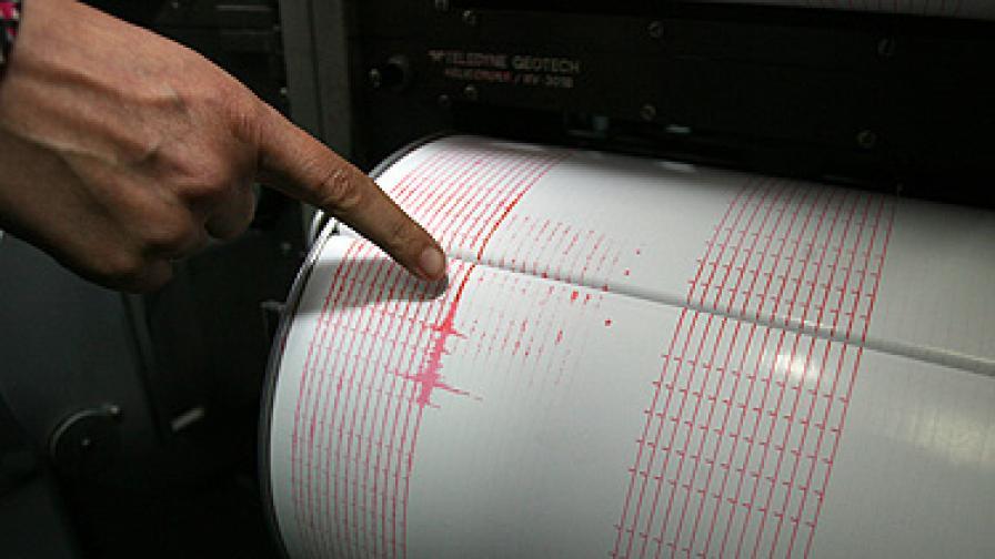 Земетресение със сила 2,4 по Рихтер около Благоевград