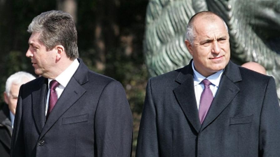 Президентът Първанов и премиерът Борисов (снимка от 3 март 2010)