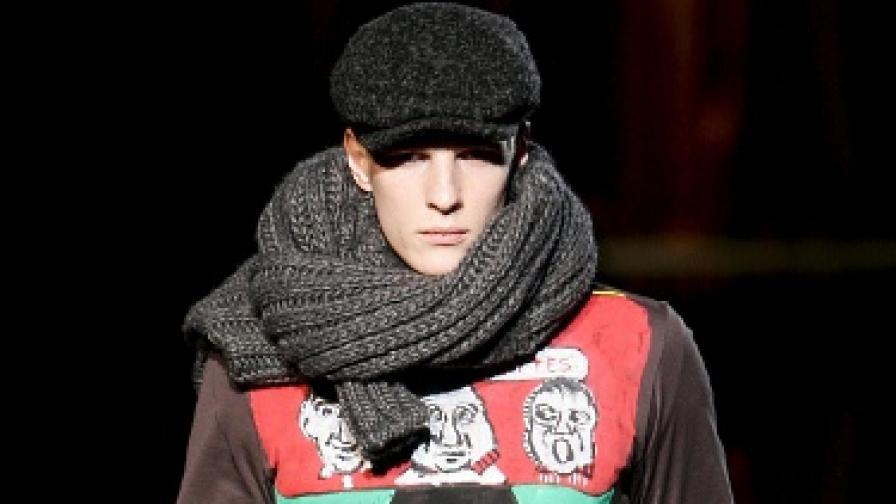 Мъже, носете си шала с кеф и идея