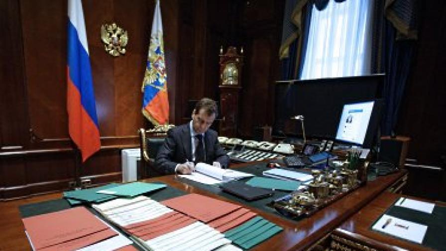 Медведев в кабинета си