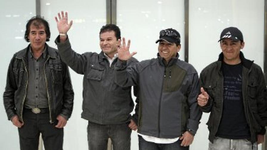 Четирима от миньорите – Виктор Сеговиа, Пабло Рохас, Естебан Рохас и Ариел Тикона, пристигнаха в Мадрид на 21 октомври, за да бъдат интервюирани от испански телевизионен канал
