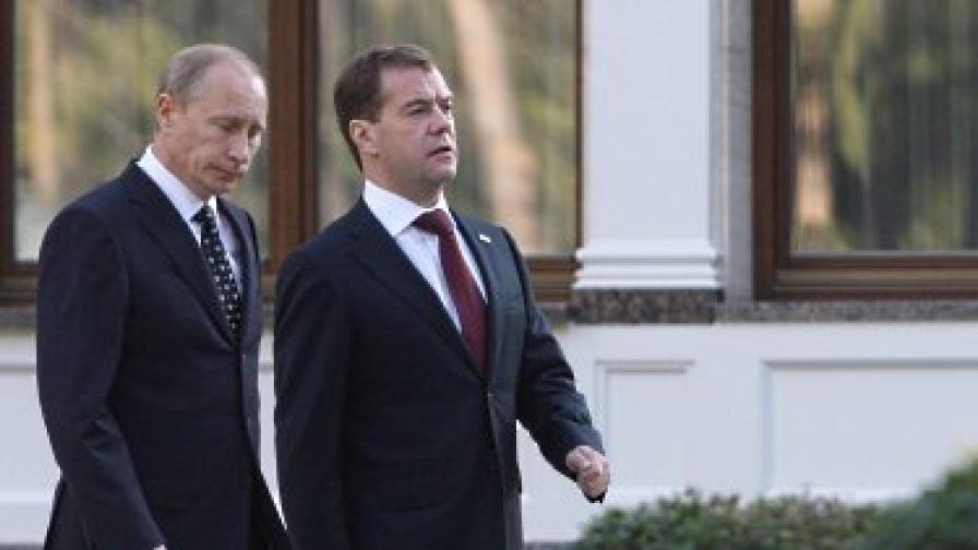 Медведев и Путин изравниха резултата