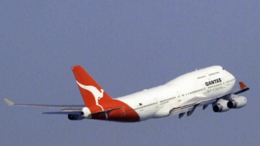 Боинг 747 на авиокомпания Кантас