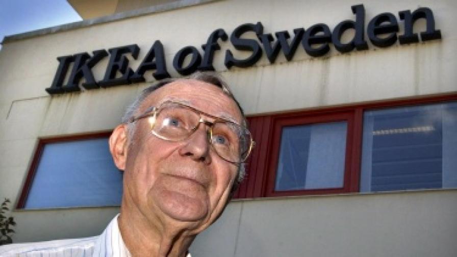 """Основателят на """"Икеа"""" е най-богатият човек в Швейцария"""