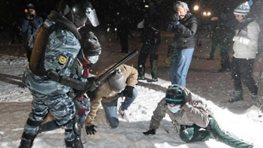 500 арестувани на митинг на националисти в Москва