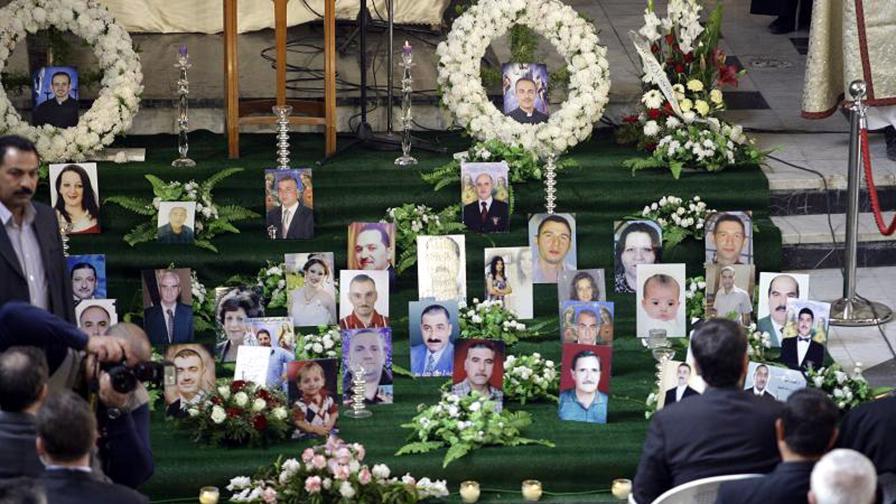 Иракски християни почитат паметта на загиналите си в атентата събратя