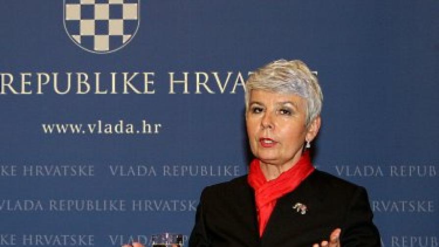 Хърватският премиер Ядранка Косор