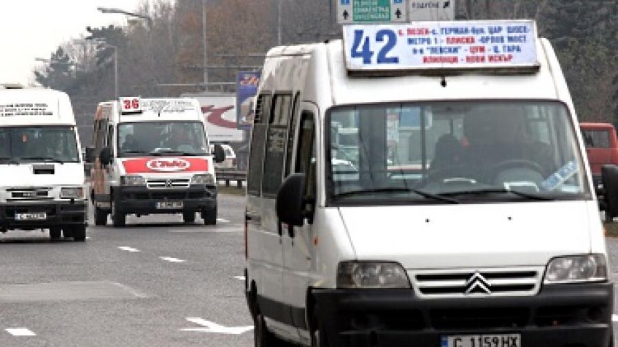 Спират маршрутките в София