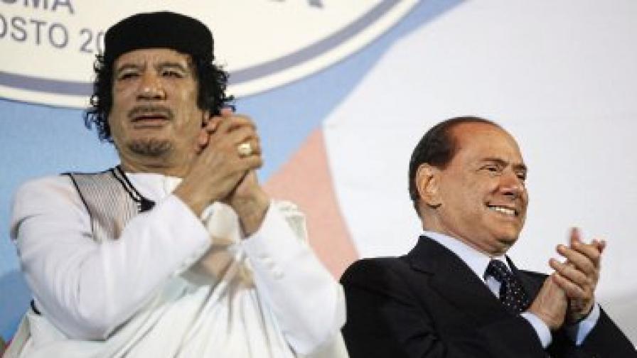 В интервюто Кадафи казва, че се чувства предаден от Италия и повече няма да поддържа никакви контакти с Берлускони