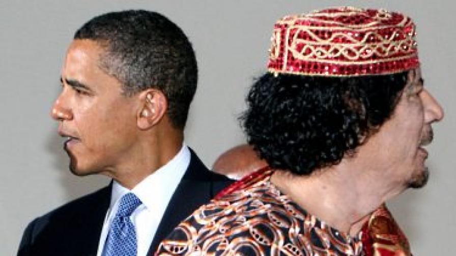 Кадафи прати послание на Обама