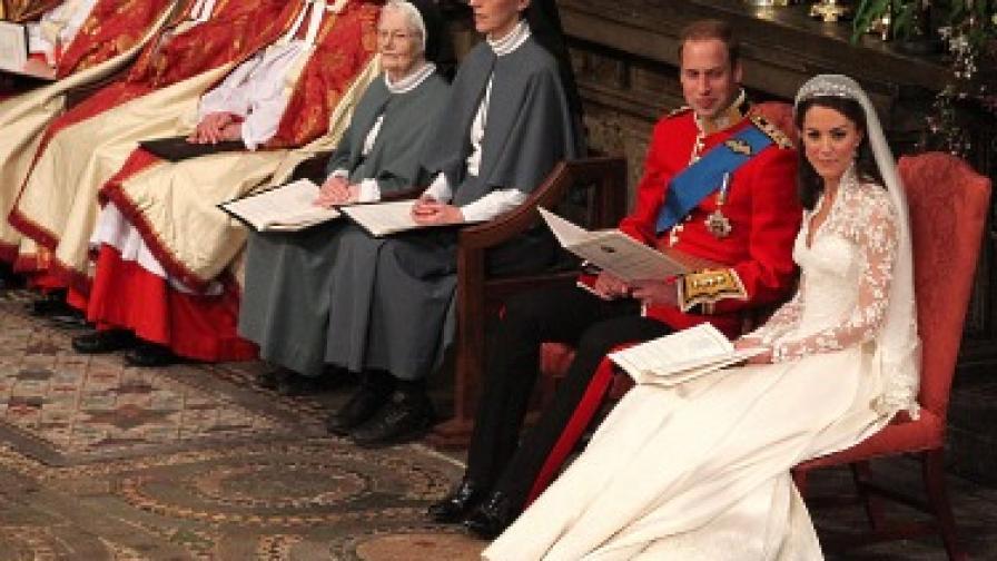 Принц Уилям и Кейт Мидълтън се врекоха във вечна вярност