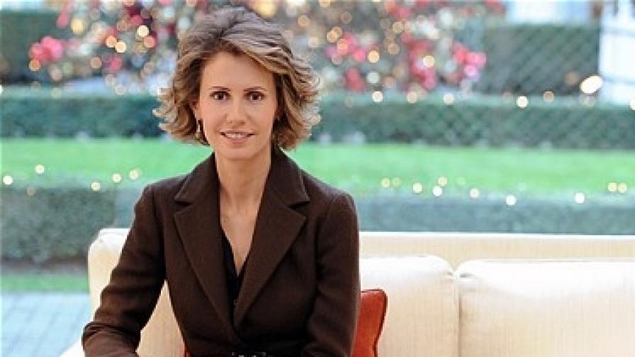 Асма Асад, 35-годишната съпруга на сирийския президент Башар Асад