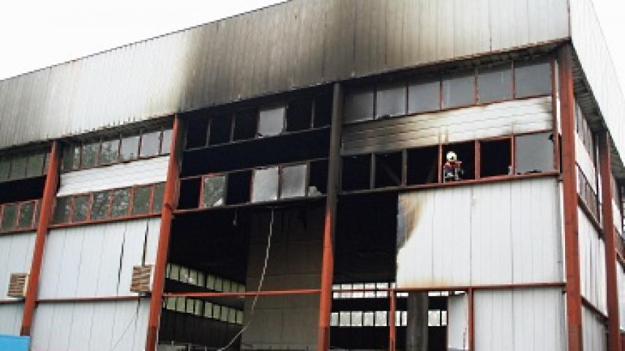 Пожар на панаира в Търговище