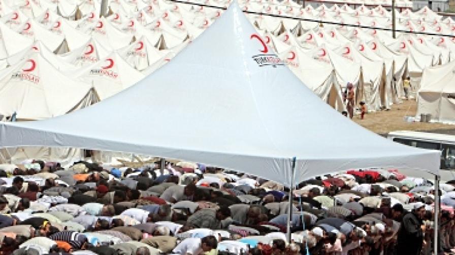 Сирийските бежанци в Турция обявиха гладна стачка