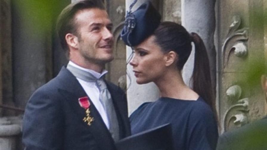Дейвид и Виктория Бекъм на сватбата на принц Уилям и Кейт Мидълтън