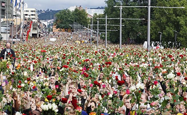 Осло: рози и мълчание