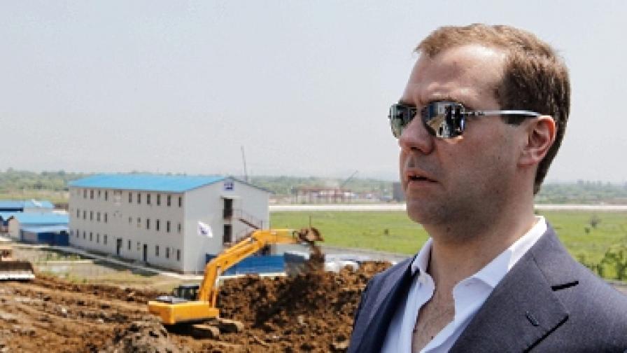 Медведев стана Капитан Русия