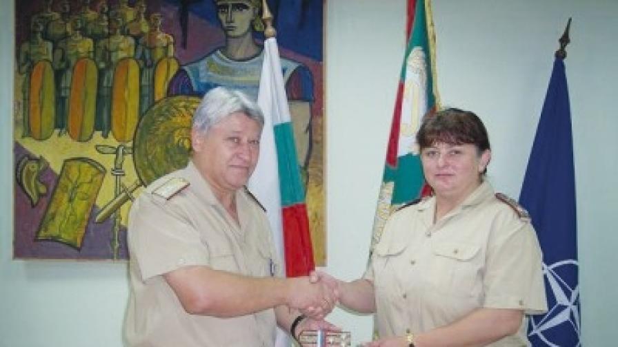 Йорданка Симеонова - единствената жена-полковник