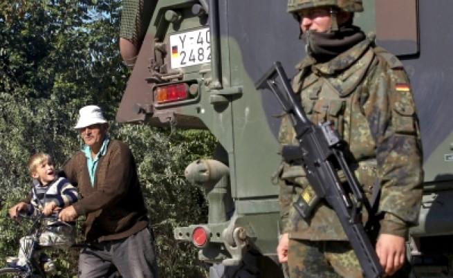 Силите на НАТО контролират граничен пункт в Косово