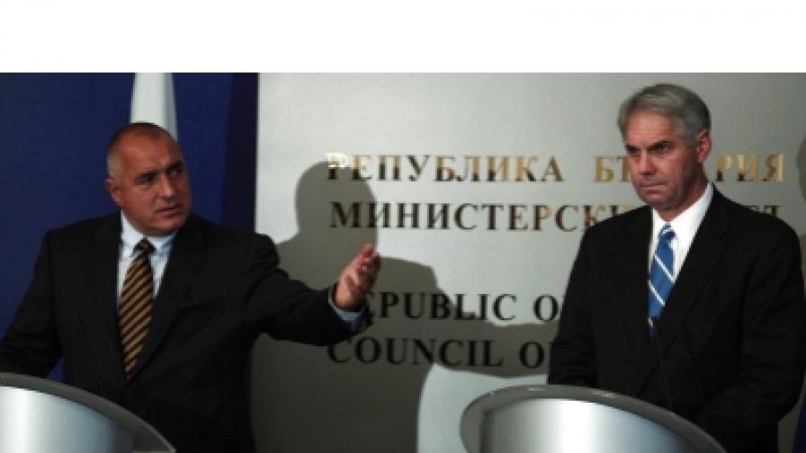 Премиерът Борисов представя пред журналисти директора на Сикрет сървис на САЩ Марк Съливан