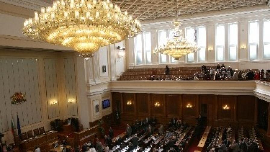 Пленарната зала на Народното събрание