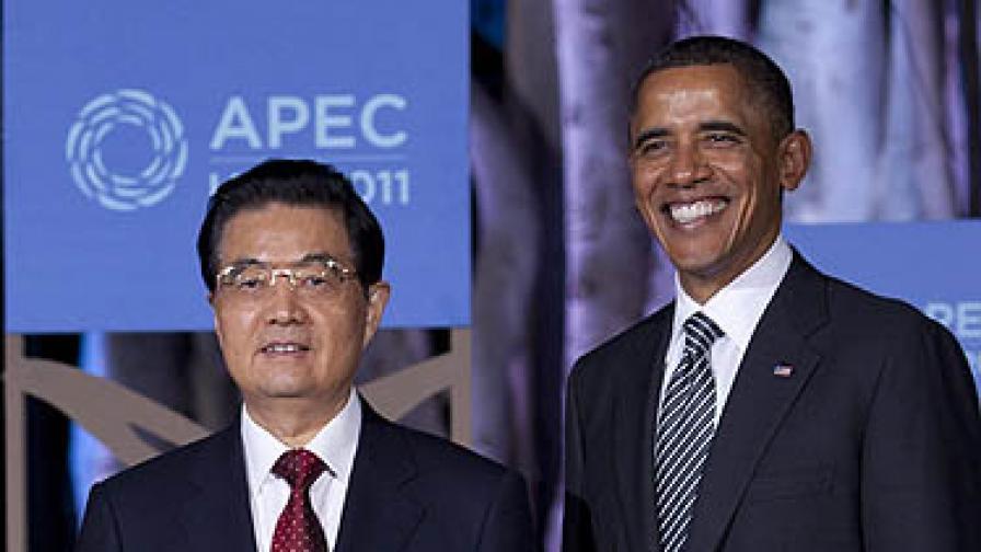 Ху Дзинтао и Барак Обама