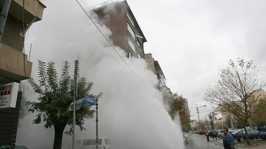 Пропадна 50-метров участък от улица в София