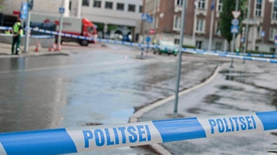 Млад мъж се взриви в центъра на Вилнюс