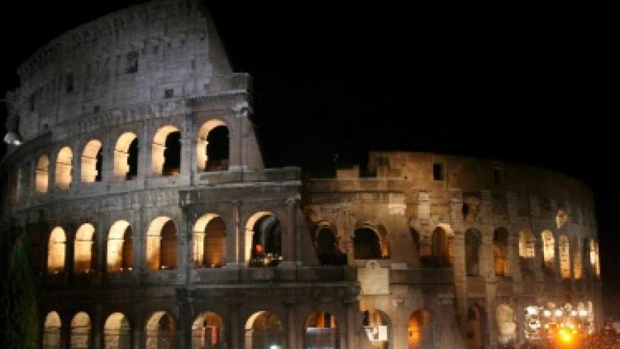 Палат, кацнал върху Колизеума - защо не?