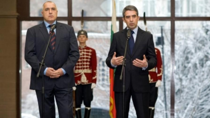 Президентът Росен Плевнелиев и министър-председателят Бойко Борисов имаха първа работна среща
