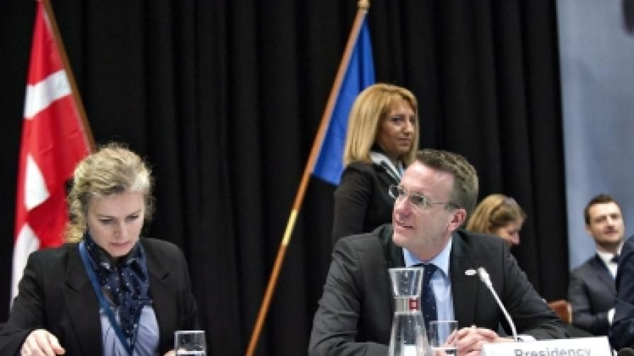 Датският министър на правосъдието Мортен Бодсков открива заседанието на Комисията по правосъдие и вътрешни работи на ЕС в Копенхаген