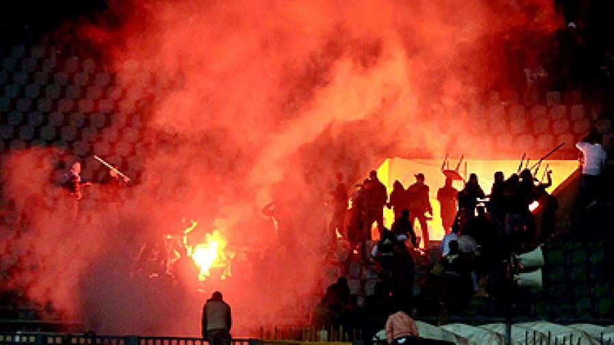 Инцидентът станал на стадиона в град Порт Саид
