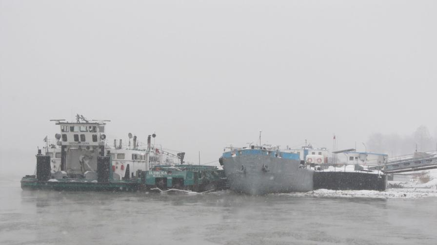 Дунав скован наполовина при Силистра