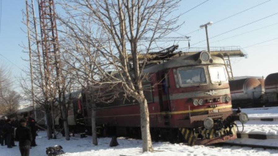 Локомотив се запали на гарата в Благоевград