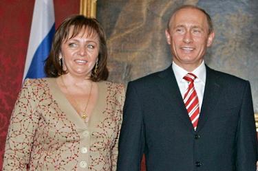 Путин и съпругата му Людмила през 2007 г.