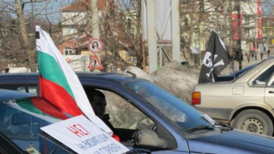 Двама арестувани на простеста срещу цените на горивата във Велико Търново