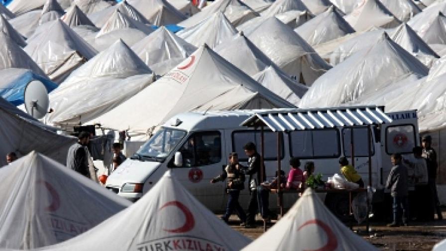 Лагер за сирийски бежанци в Турция