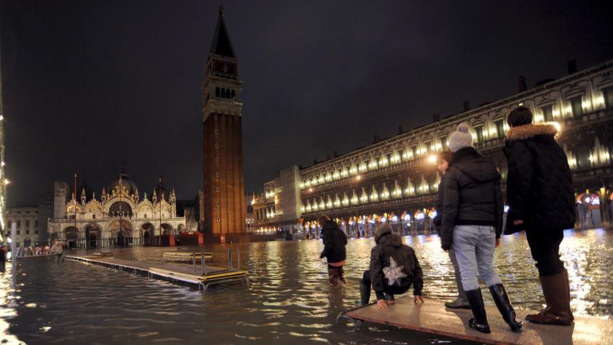 Едно от наводненията във Венеция