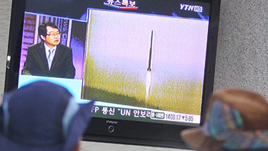 КНДР изстреля спорната ракета, тя се разпадна