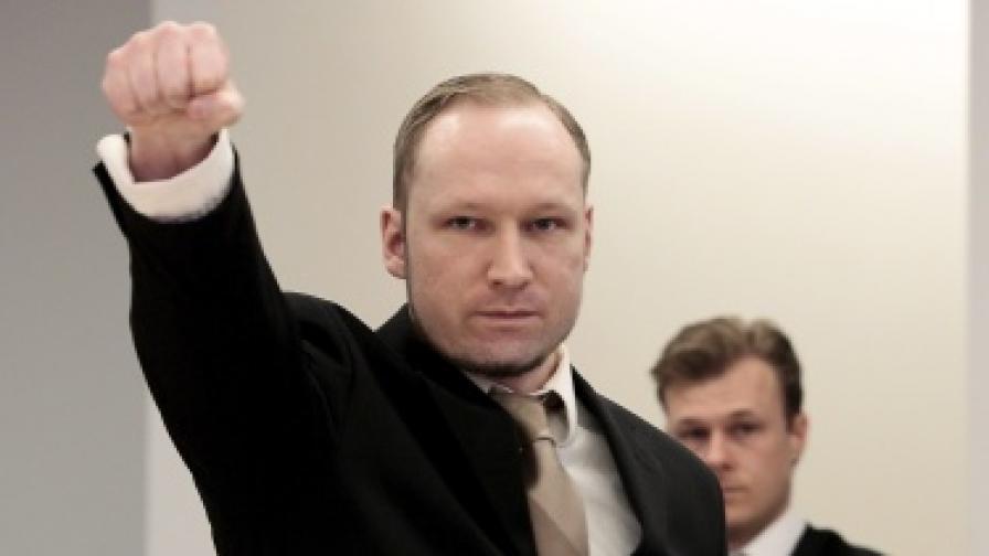 Брайвик отправя екстремисти поздрав в съда
