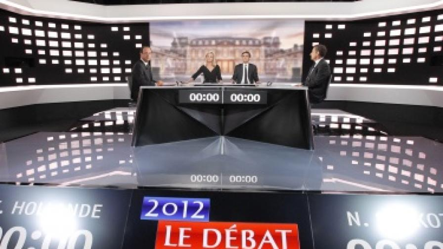 Оланд и Саркози влязоха в яростен спор