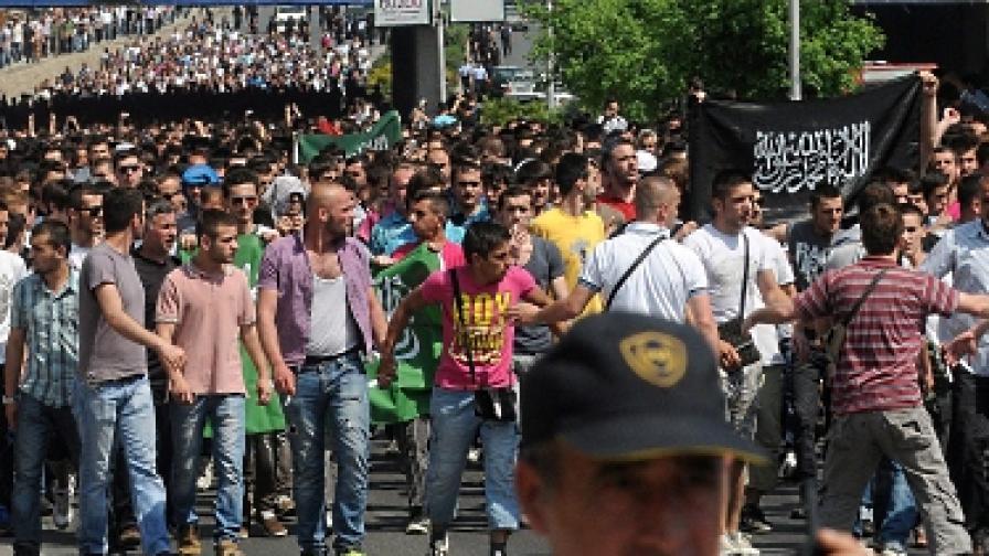 Албански протест в центъра на Скопие