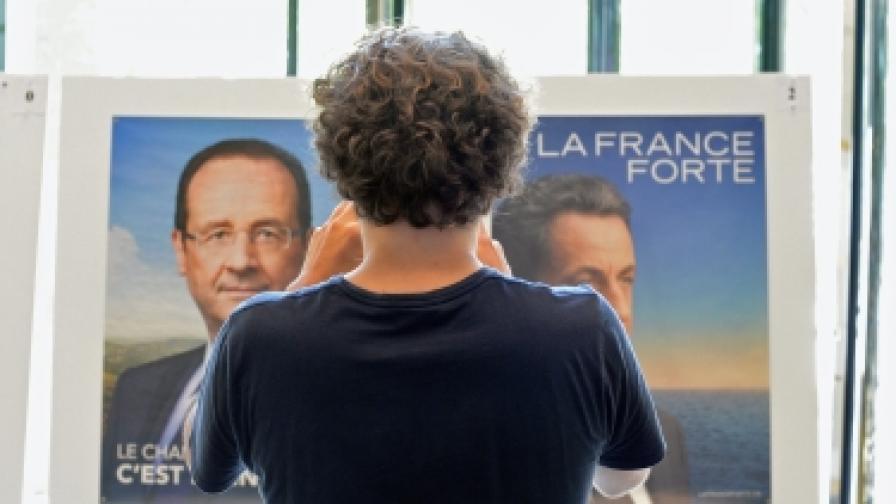 Последните проучвания във Франция показват, че президентът Саркози намалява разликата със социалиста Оланд, кото обаче продължава да има преднина