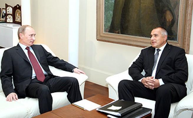 Путин и Борисов през ноември 2010 г. в София