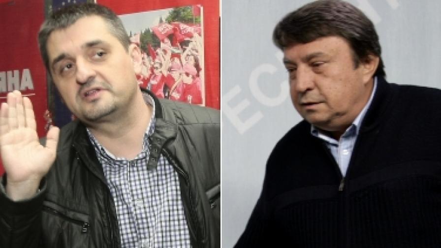 Кирил Добрев (л) и Младен Червеняков