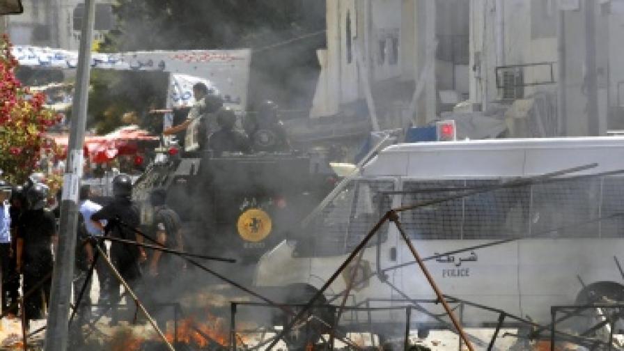 Сблъсъци в Тунис, десетки ранени