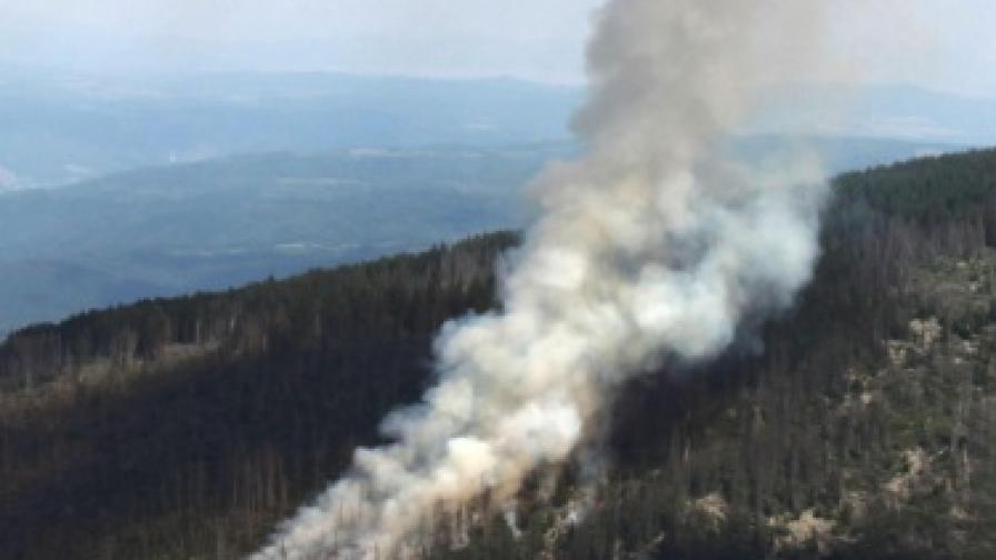 Как започна пожарът на Витоша